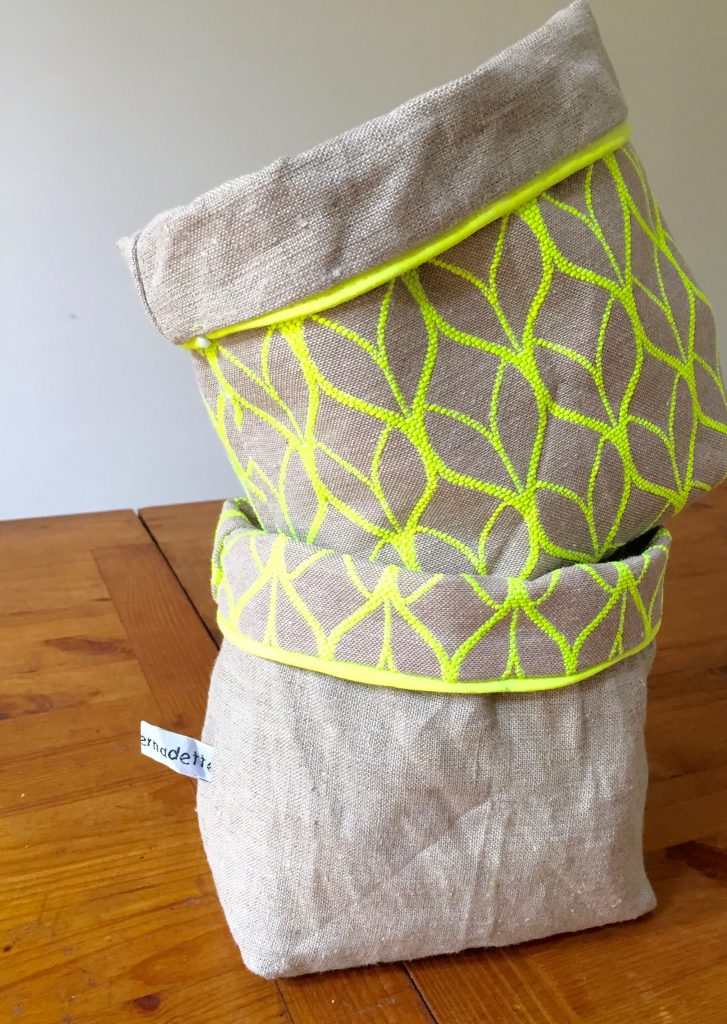 vide-poches_lin_vert fluo_couture