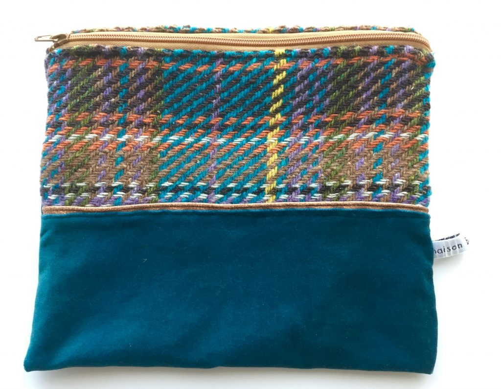 pochette_velours_tweed_bleu